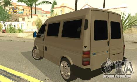 Ford Transit 1997 Medium Roof para GTA San Andreas traseira esquerda vista