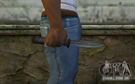 Retextured Knife para GTA San Andreas terceira tela