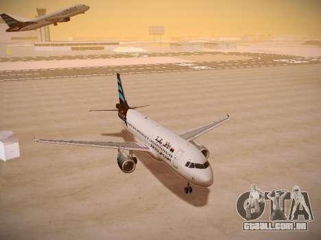 Airbus A320-214 Afriqiyah Airways para GTA San Andreas vista traseira