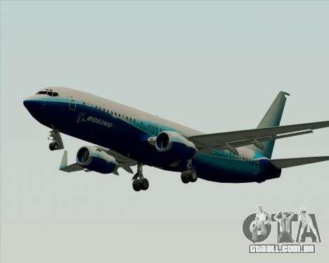 Boeing 737-800 House Colors para GTA San Andreas traseira esquerda vista