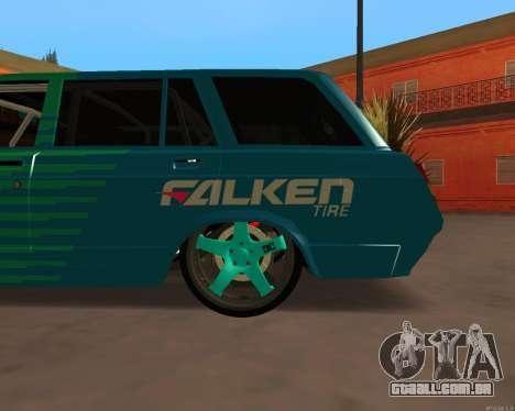 ESTES 2104 Falken para GTA San Andreas traseira esquerda vista