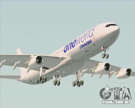 Airbus A340-300 Finnair (Oneworld Livery) para o motor de GTA San Andreas