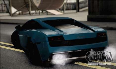 Lamborghini Gallardo Superleggera 2011 para GTA San Andreas esquerda vista