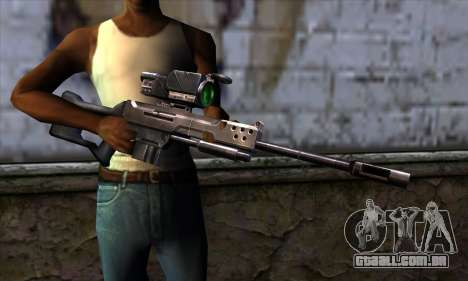 Sniper rifle (C&C Renegade) para GTA San Andreas terceira tela