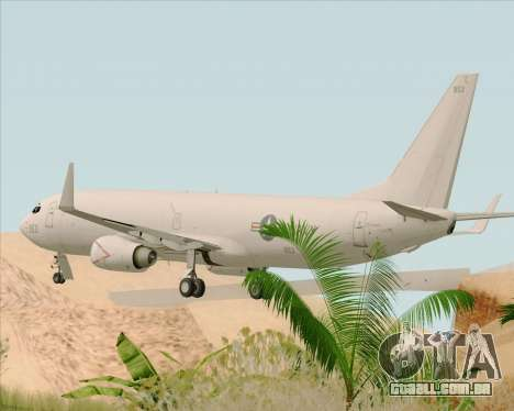 Boeing P-8 Poseidon US Navy para GTA San Andreas traseira esquerda vista