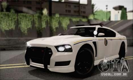 Bravado Buffalo S Police Edition (HQLM) para GTA San Andreas vista traseira