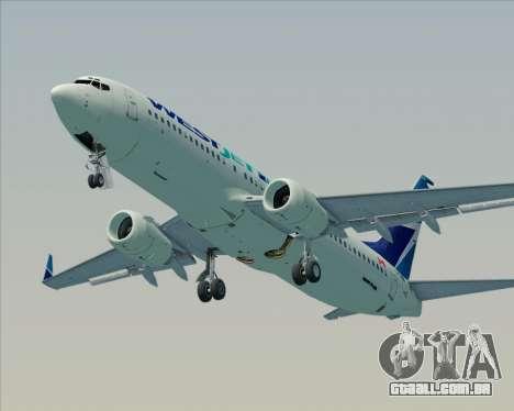 Boeing 737-800 WestJet Airlines para o motor de GTA San Andreas