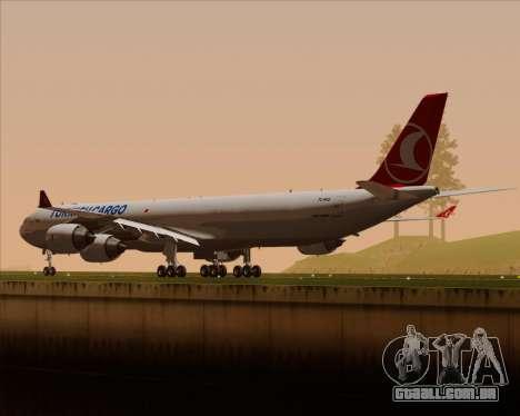 Airbus A340-600 Turkish Cargo para as rodas de GTA San Andreas