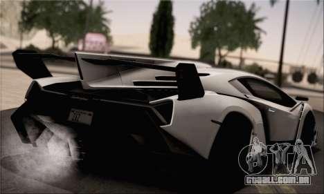 Lamborghini Veneno LP750-4 White Black 2014 para GTA San Andreas esquerda vista