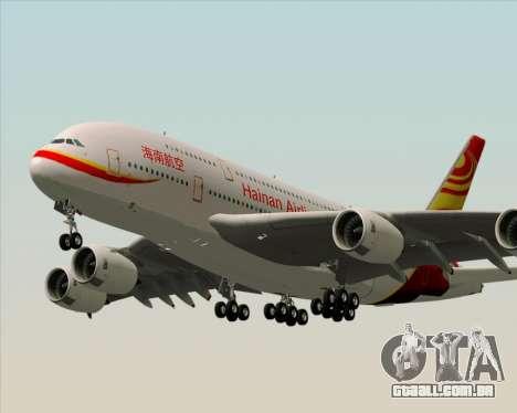 Airbus A380-800 Hainan Airlines para GTA San Andreas traseira esquerda vista