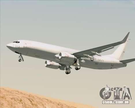Boeing P-8 Poseidon US Navy para GTA San Andreas vista traseira
