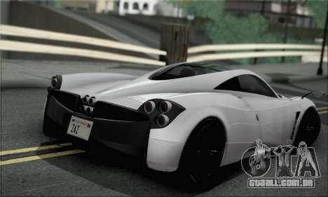 Pagani Huayra TT Ultimate Edition para GTA San Andreas esquerda vista