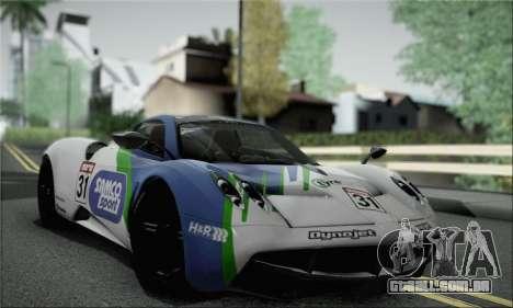 Pagani Huayra TT Ultimate Edition para GTA San Andreas vista interior