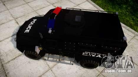 SWAT Van para GTA 4 vista direita