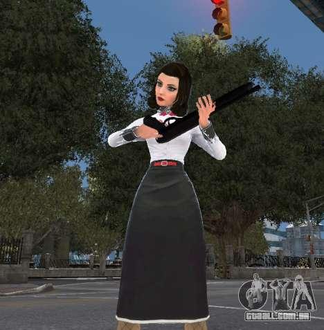 Elizabeth, de Bioshock Infinite: o Enterro No Ma para GTA 4 terceira tela