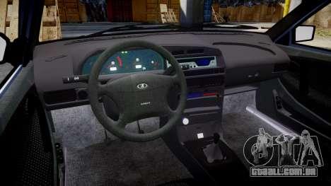 VAZ-2114, Lada Samara 2014 para GTA 4 vista interior