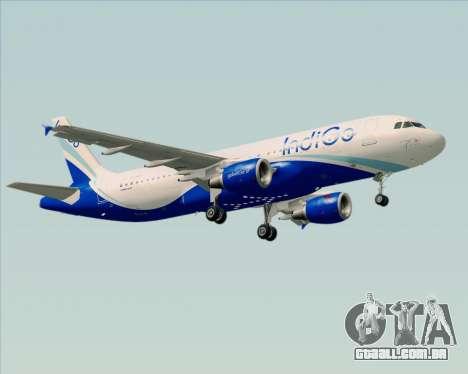 Airbus A320-200 IndiGo para as rodas de GTA San Andreas