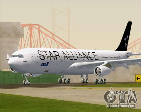 Airbus A340-300 All Nippon Airways (ANA) para GTA San Andreas esquerda vista