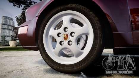 Porsche 911 (964) Targa para GTA 4 vista de volta
