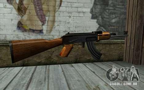 Retextured AK47 para GTA San Andreas segunda tela
