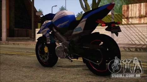 Yamaha V-Ixion GP Series para GTA San Andreas esquerda vista