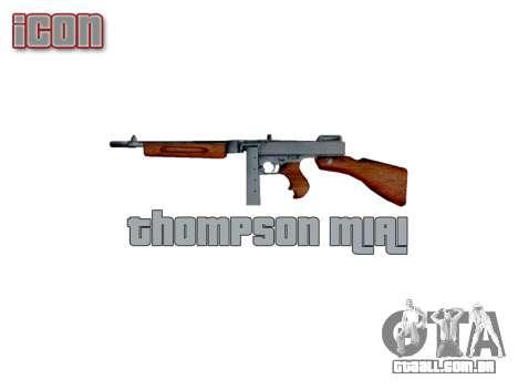 Submetralhadora Thompson M1A1 caixa de icon3 para GTA 4 terceira tela