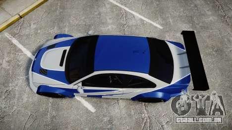 BMW M3 E46 GTR Most Wanted plate NFS MW para GTA 4 vista direita