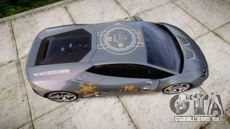 Lamborghini Huracan LP 610-4 2015 Blancpain para GTA 4 vista direita