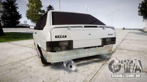 VAZ-2113 Turbo para GTA 4 traseira esquerda vista