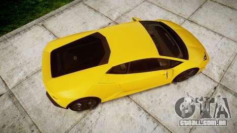 Lamborghini Huracan LP610-4 para GTA 4 vista direita