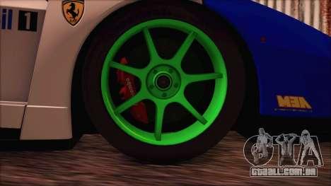 Ferrari Enzo Whirlwind Assault para GTA San Andreas traseira esquerda vista