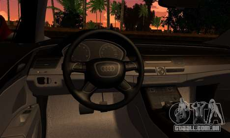 Audi S8 para GTA San Andreas traseira esquerda vista