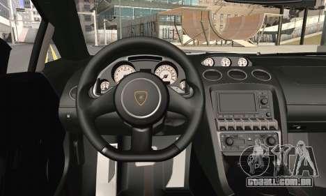 Lamborghini Gallardo Superleggera 2011 para GTA San Andreas traseira esquerda vista