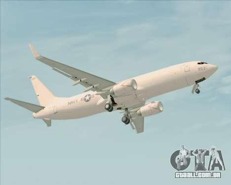 Boeing P-8 Poseidon US Navy para GTA San Andreas vista inferior