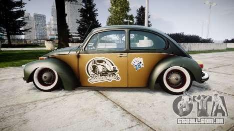 Volkswagen Beetle para GTA 4 esquerda vista