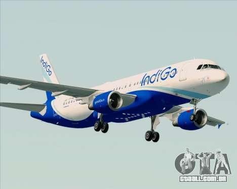 Airbus A320-200 IndiGo para GTA San Andreas vista direita