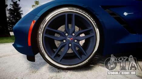 Chevrolet Corvette C7 Stingray 2014 v2.0 TirePi1 para GTA 4 vista de volta