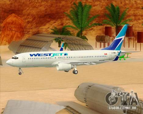 Boeing 737-800 WestJet Airlines para as rodas de GTA San Andreas