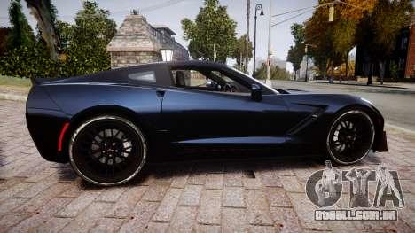 Chevrolet Corvette Z06 2015 TireYA3 para GTA 4 esquerda vista