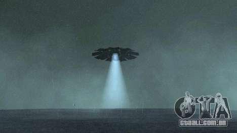 UFO sobre San Andreas para GTA San Andreas segunda tela