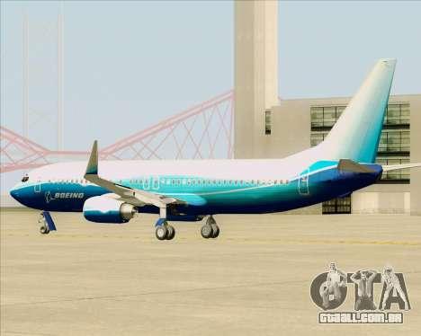 Boeing 737-800 House Colors para GTA San Andreas vista traseira