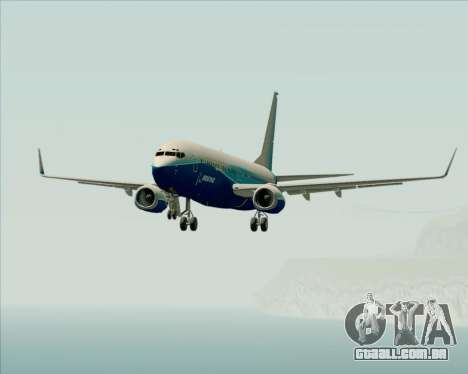 Boeing 737-800 House Colors para GTA San Andreas vista inferior