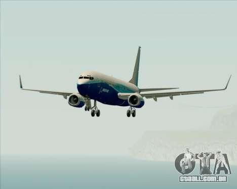 Boeing 737-800 House Colors para GTA San Andreas vista inferior