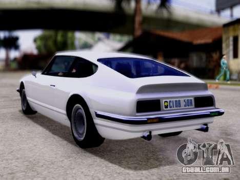 Lampadati Pigalle GTA V para GTA San Andreas esquerda vista