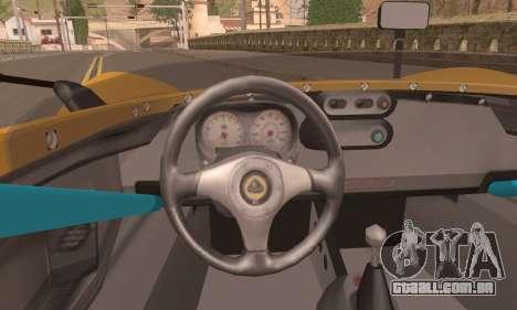 Lotus 2 Eleven (211) para GTA San Andreas traseira esquerda vista