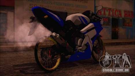 Yamaha R15 Modif para GTA San Andreas esquerda vista