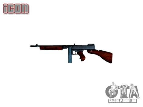 Submetralhadora Thompson M1A1 caixa de icon2 para GTA 4 terceira tela