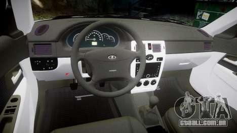 ВАЗ-2170 de alta qualidade para GTA 4 vista interior
