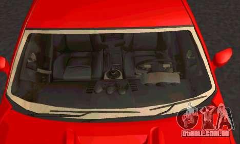 Nissan 350Z Tune para GTA San Andreas vista traseira