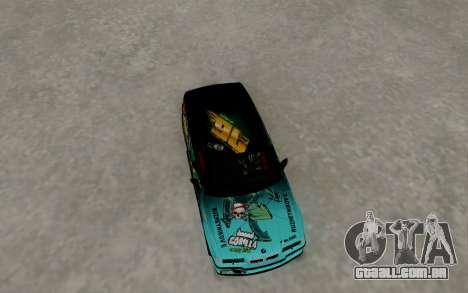 BMW M3 E36 Gorilla Energy Team para GTA San Andreas vista direita